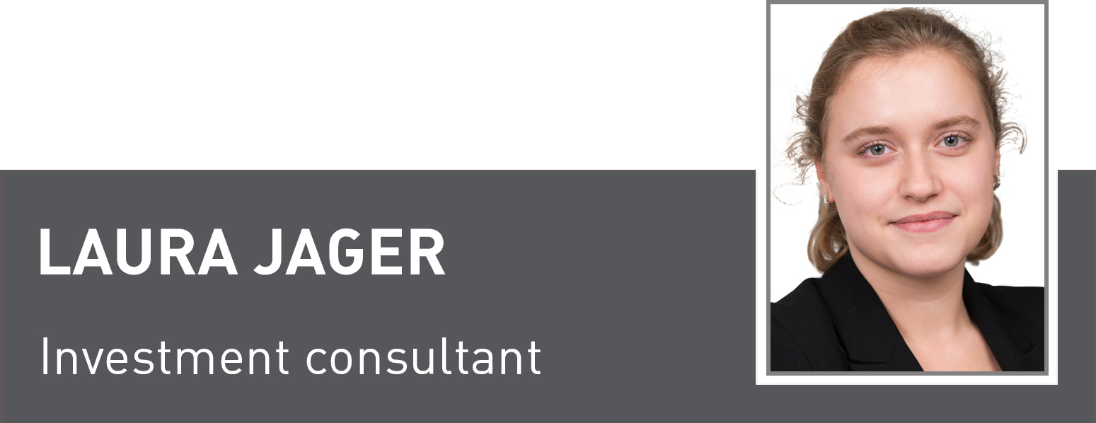 Laura Jager, Investment consultant